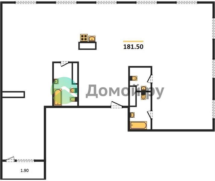 6-комнатная квартира в ЖК Серебряный фонтан