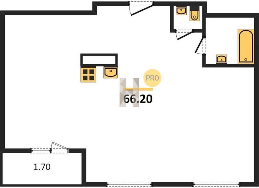 2-комнатная квартира в ЖК Влюберцы