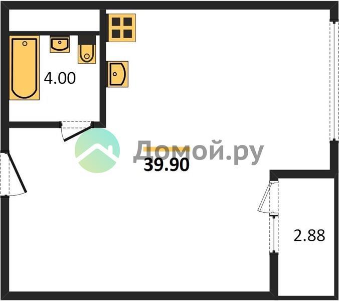 1-комнатная квартира в ЖК Дом Серебряный Бор