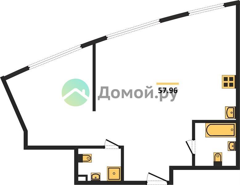 студия квартира в ЖК Крылья
