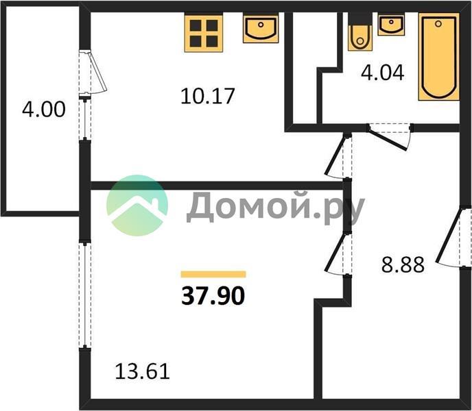 1-комнатная квартира в ЖК Мир митино