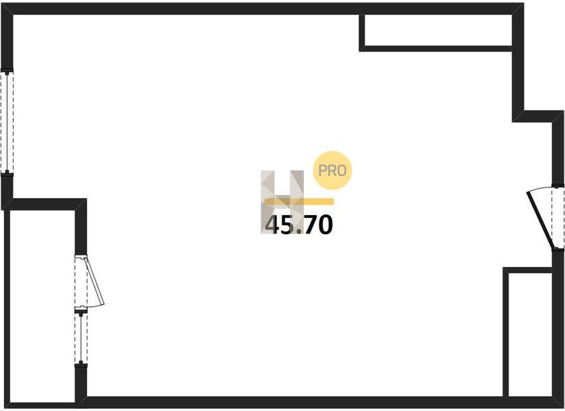 1-комнатная квартира в ЖК Зиларт