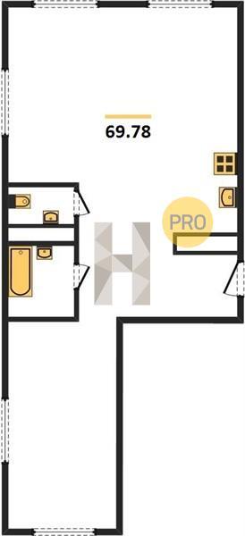 2-комнатная квартира в ЖК Селигер Сити