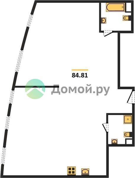 3-комнатная квартира в ЖК Крылья