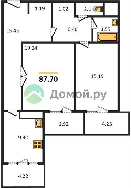 2-комнатная квартира в ЖК Маяк