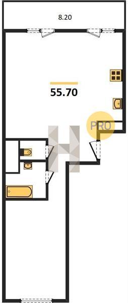 2-комнатная квартира в ЖК Новое Пушкино